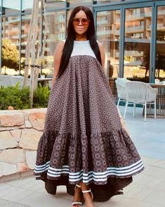 Seshoeshoe Dresses, African Maxi Dresses, Latest African Fashion Dresses, African Dresses For Women, Ankara Fashion, Dress Fashion, Fashion Outfits, Wedding Dresses, South African Traditional Dresses