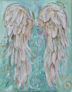 Angel Wings Painting Custom order your own by MichelleLakeArt, $100.00