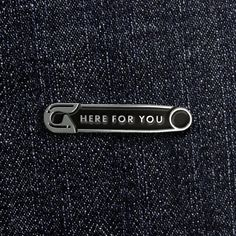 Here for you – Enamel Pin - Architecture Jacket Pins, Pins And Needles, Cool Pins, Pin And Patches, Pin Badges, Lapel Pins, Pin Collection, Textiles, Brooch Pin
