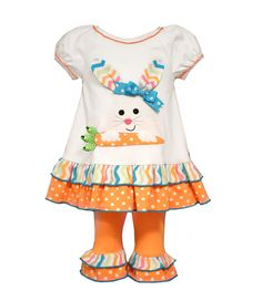 Bonnie Jean Toddler Girls Coral Easter Spring Pageant Bunny Knit Dress 2T 3T 4T