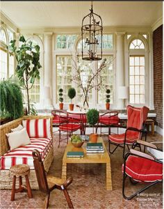 Ravishing Red Sunroom