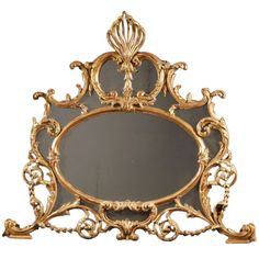 Chippendale Overmantle Mirror | From a unique collection of antique and modern wall mirrors at http://www.1stdibs.com/furniture/mirrors/wall-mirrors/