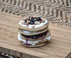 Protein Treats by Nicolette: Maple Toffee Protein Pancakes with Blueberry Toffee Jam