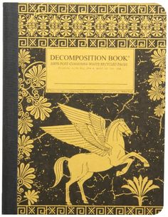 Pegasus Decomposition Book: College-Ruled Composition Notebook With 100% Post-Consumer-Waste Recycled Pages by Michael Roger Inc http://smile.amazon.com/dp/1592540872/ref=cm_sw_r_pi_dp_LjS3tb0YD1FXCMKK