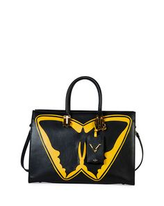 Superhero Batman Tote Bag, Black/Yellow by Valentino at Bergdorf Goodman.