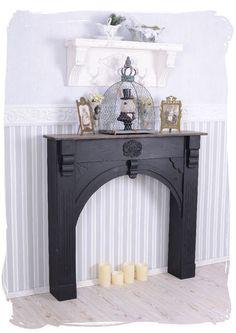 Romantische Kaminkonsole im Shabby Chic Stil von Palazzo Int - stilvolle Möbel und Wohnaccessoires auf DaWanda.com