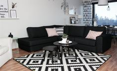 Work the entire concept of your home around one statement piece - like Magdaleena's LAPPLJUNG RUTA living room rug   Follow her at magdankotona.blogspot.fi