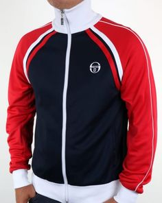 Sergio Tacchini Ghibli Track Top Navy/Red,tracksuit,jacket,mens Within the last few 30 years, the evolution of Louis Vuitton Jeans, Grandad Collar Shirt, Mens Outdoor Jackets, Fila Vintage, Bodybuilding Clothing, Tommy Hilfiger Sweatshirt, Tracksuit Jacket, Evolution Of Fashion, Dress Shirts For Women