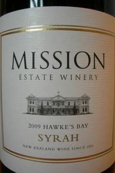 Mission Estate Winery Syrah Hawkes Bay | http://www.snooth.com | #wine