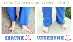 """How to """"Unshrink"""" Your Clothes. You're Gonna Want To See This, It Works Like Magic!"""