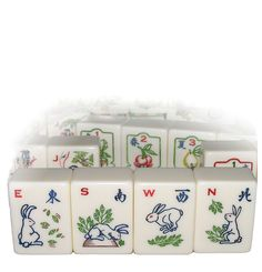 Red Coin Mah Jong Fifth Edition 2011, The Longevity Set, Wind tiles