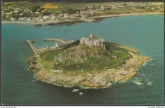 Aerial View, St Michael's Mount, Cornwall, c.1960s - Airviews Postcard