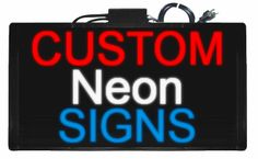 Neon Sign Generator - Create images of neon signs, pick your own colors, fonts, etc.   Optionally, you can buy it online, and we'll make a real neon sign from your design.