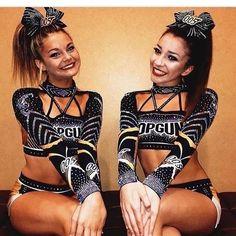 Two Top Gun Cheerleaders Cheer Picture Poses, Cheer Poses, Picture Ideas, Cute Cheerleaders, Cheerleading Pictures, Cheer Outfits, Cheerleading Outfits, Competitive Cheerleading, All Star Cheer Uniforms