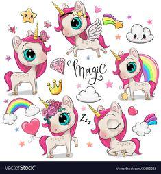 Disney Cartoon Characters, Disney Cartoons, Cartoon Kids, Cute Cartoon, Owl Cartoon, Unicorn Horse, Cute Unicorn, Caricature, Cartoon Mignon