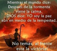 .Dios es la paz aún en medio de la tempestad.