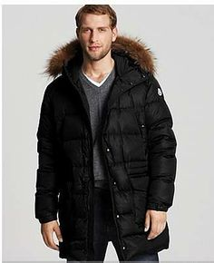 moncler coat black mens