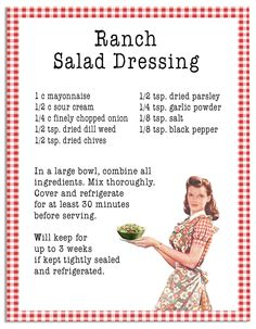 Recipe | Open Gates Farm's Ranch Salad Dressing