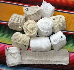 handmade ace bandages. Knit and Crochet :-) You could also make them in fun colours (for kids), or a practical colour like black :-) Make a few and have them on hand for when you need them :-)