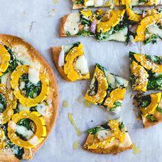 Winter White Pizza with Delicata Squash & Gouda from @amandapaa