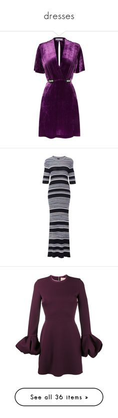 """dresses"" by sassysuzyq ❤ liked on Polyvore featuring dresses, short dresses, sparkly mini dress, sparkly dresses, short velvet dress, purple dresses, velvet mini dress, stripe, form fitting dresses and striped dresses"
