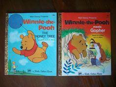 Vintage Pair of Winnie-the-Pooh Little Golden Books - 1973 - Walt Disney Children's Books by MatriarchVintage, $8.50