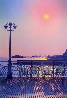 Here Today Phillip Dunn   I have this painting and it reminds of happy halcyon days spent in Brighton