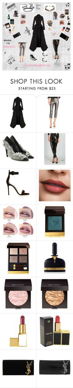 """""""MODERN DAY PRINCESS"""" by sarbani on Polyvore featuring Brandon Maxwell, h:ours, Balenciaga, Balmain, Gianvito Rossi, Tom Ford, Laura Mercier, Yves Saint Laurent and modern"""