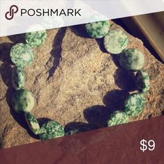 Green Tree Agate Unique Crystal Stone Bracelet Item- bracelet; Material- tree agate; Quantity- 1; Size- 1 size stretches crystal clear jewelry Jewelry Bracelets