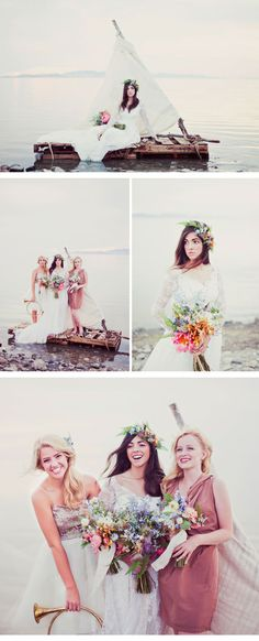 castaway inspired bridal shoot - amazing