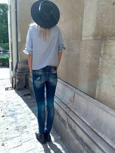 mode tenus fashion automne hiver chemise raye chapeau le mode secret tendance mode mode fminine mode femme chemises