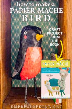 Paper Crafts For Kids, Crafts To Do, Arts And Crafts, Paper Mache Projects, Craft Projects, Craft Ideas, Paper Mache Sculpture, Bird Crafts, Middle School Art
