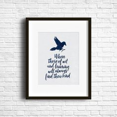 Ravenclaw House digital download print. 8x10 quote perfect for your home or to give to your favorite Ravenclaw. Blue watercolor textured type & raven on a white paper texture background. This download is a high quality (300dpi) 8x10 jpg. If you would like another size, or file format please message me and I would be happy to send you one. Note that no physical print will come with this purchase. It is an instant download file. Feel free to frame or print out and use as a card, print, or…