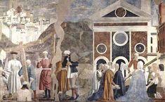 """PIERO DELLA FRANCESCA: """"La invención de la Cruz"""", frescos de la capilla Bacci de Arezzo."""