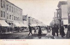 PLATTEVILLE , Wisconsin,00-10s ; East Main Street