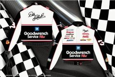 Dale Earnhardt Sr. GM Goodwrench Mens True White Nascar 2012 Twill Jacket by RacingGifts. $120.00. This is a Jeff Hamilton Designer Jacket. Since 1988, JH Design and Jeff Hamilton have been manufacturing the highest quality jackets in the world. Since their inception, quality has been the number one focus when producing a product for their customers JH Design offers a 100% cotton Heavy Brushed Twill Uniform Jacket with shoulder pads, Satin lining, and hidden stainless steel snap...