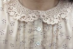 I love adorable, frilly collars. Especially when I have a sweater over the button up!