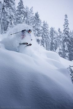 James Heim opens an early Christmas present. PHOTO: Mason Mashon #powder #skiing #canada #britishcolumbia #whistler