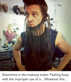Jeremy Renner takes his job seriously. | http://www.whosay.com/status/jeremyrenner/981952
