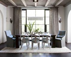 Rollingwood | Ryan Street & Associates; gray-washed beams, white walls, black metal windows