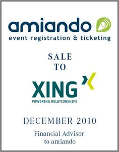 Amiando is a pioneer of the online event management  industry and Europe's Leading Tool for Online Event Registration. In 2011 Amiando was used to organize more than 180,000 events.   Parklane Capital organized a complete sell side process with national as well as international strategic and financial investors.     Parklane provided support during the whole process for Amiando with special consideration for future growth opportunities.