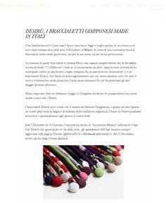 "Desirù on ""Fashion doesn't happen"" http://fashiondoesnthappen.com/2013/12/09/desiru-i-braccialetti-giapponesi-made-in-italy/"