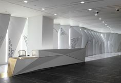 Google NY Headquarters Lobby, design by HLW