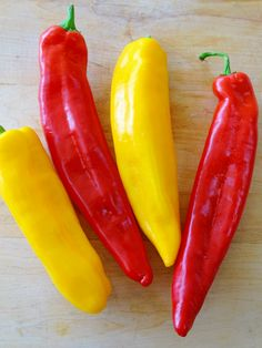 Sweet Long Peppers Stuffed with Cauliflower Rice - Proud Italian Cook Best Greek Salad, Stuffed Peppers With Rice, Great Roasts, Long Pepper, Frozen Cauliflower Rice, Pepper Recipes, Vegetarian Lunch, Roasted Chicken, Cooking Recipes