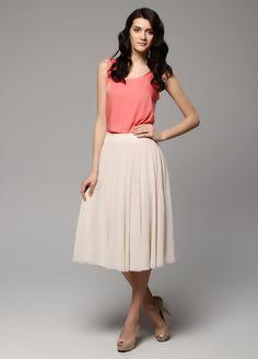 Chiffon Maxi-Skirt by Fer Trend @Markafoni