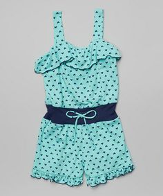 Look what I found on #zulily! Seafoam Heart Romper - Toddler & Girls by Jenna & Jessie #zulilyfinds