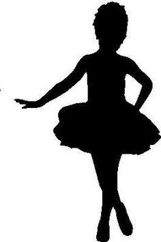 Pequena bailarina. Silhueta.