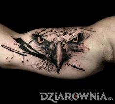 Tatuaże zwierzęta, na ramieniu, dla mężczyzn: tatuaż Orzeł