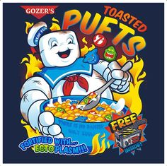 """""""Toasted Pufts"""" Ghostbusters shirt, $15"""