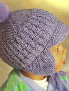 Diy Crafts - Lovely vintage knitting pattern for babies hats including bonnets, helmet and cap. In double knit and 4 ply. NO RESALE RIGHTS - PATTERN F Vintage Crochet Patterns, Baby Hat Patterns, Vintage Knitting, Baby Knitting Patterns, Baby Hats Knitting, Knitted Hats, Baby Helmet, Diy Crafts Knitting, Baby Bonnets